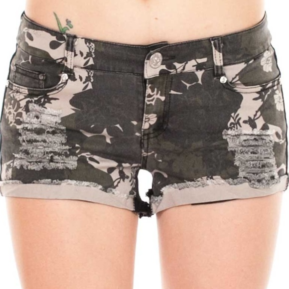 Junior Fit Pants - Camouflage Dual Tone Shorts